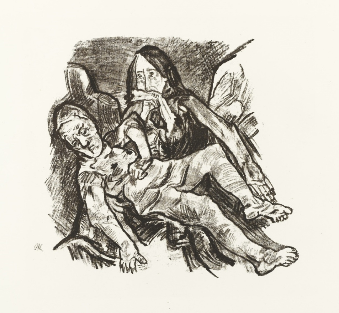 Oskar Kokoschka. Pieta. The Lamentation Of Christ