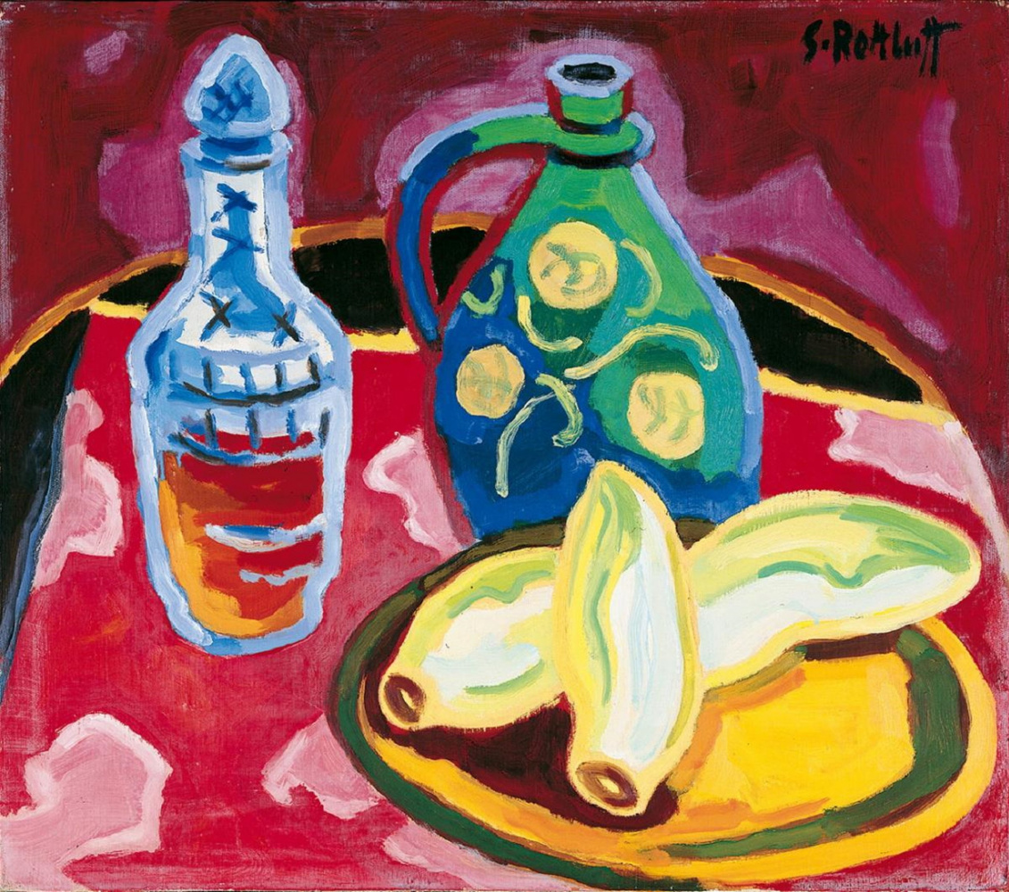 Karl Schmidt-Rottluff. Still life with chicory