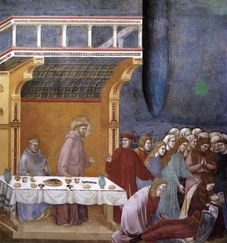 Giotto di Bondone. Death of a knight from Celano. The Legend of St. Francis