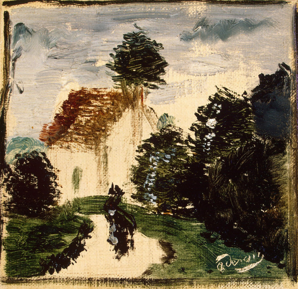 Andre Derain. Path in the Park with the character