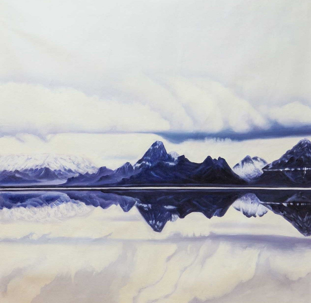 (no name). Mountains, clouds and reflections