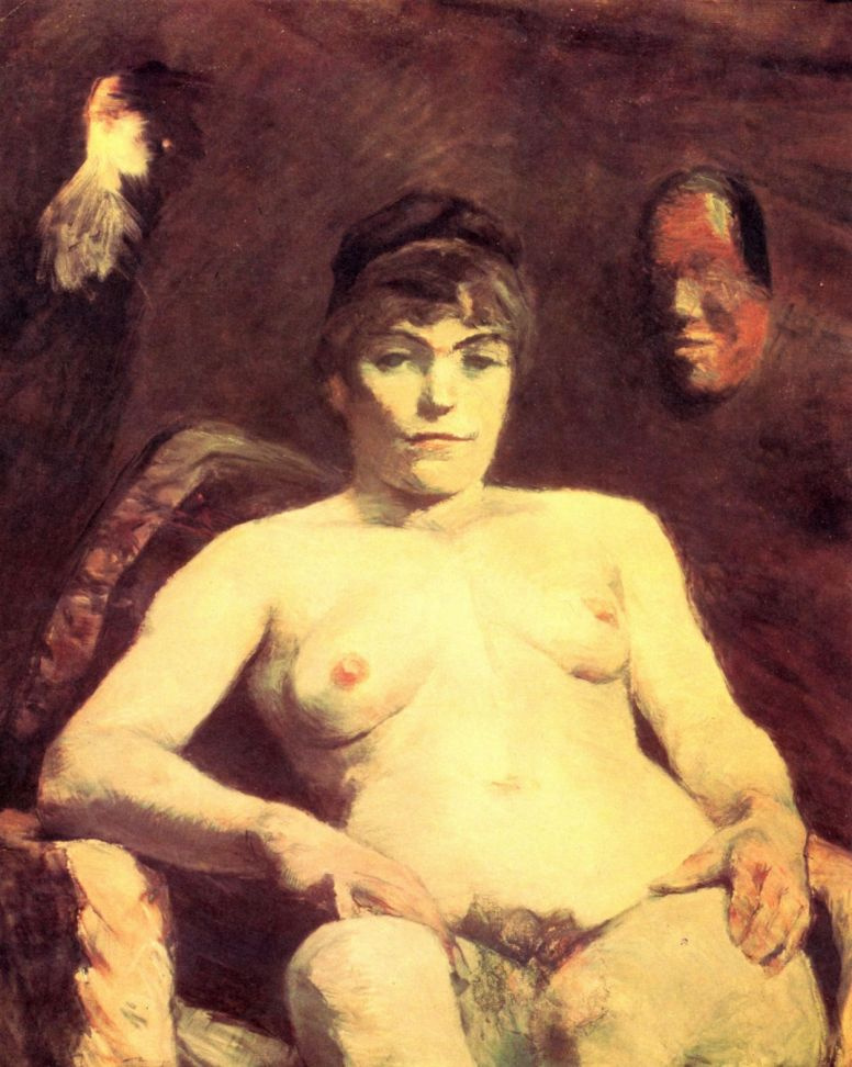 Анри де Тулуз-Лотрек. Большая Мари