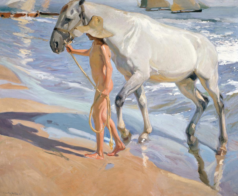 Хоакин Соролья (Соройя). Купание коня