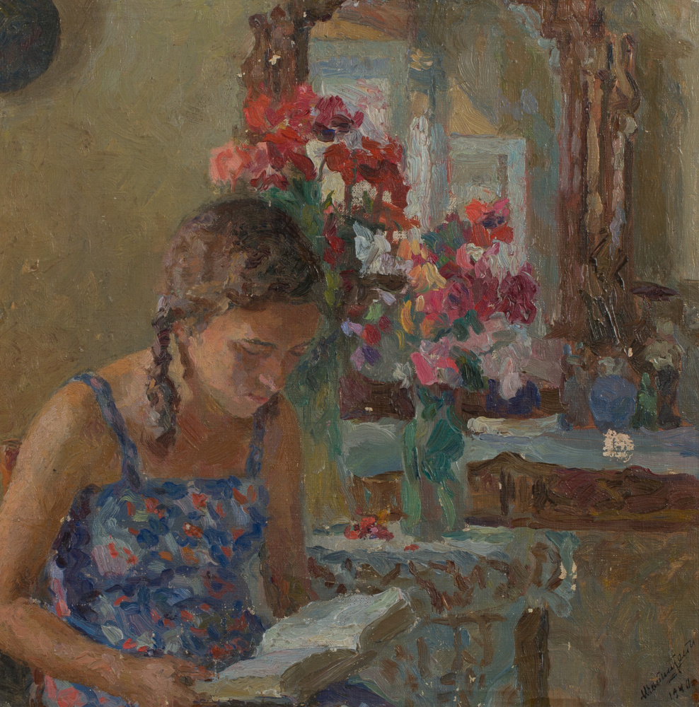 Mark Grigorievich Weinstein. Portrait of daughter in blue