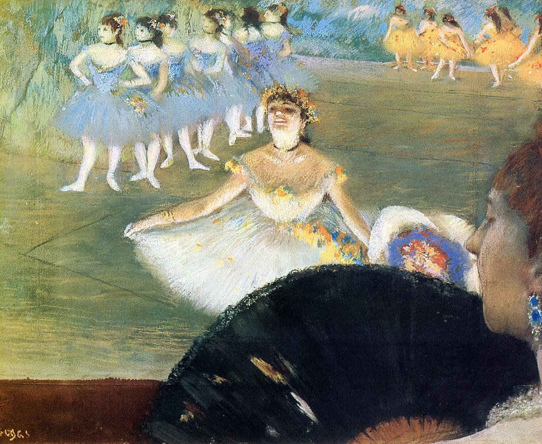 Edgar Degas. Dancer with a bouquet of flowers