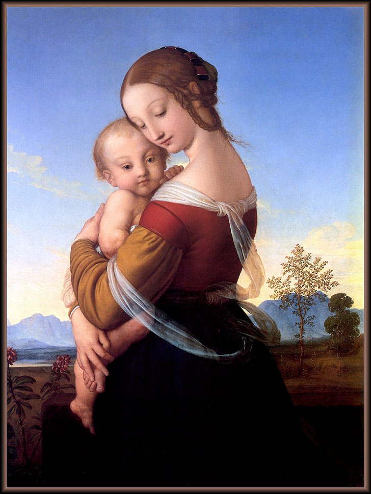Christopher Wood. The Madonna and child