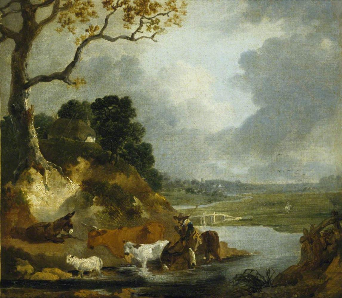 Томас Гейнсборо. Пастух и стадо у ручья