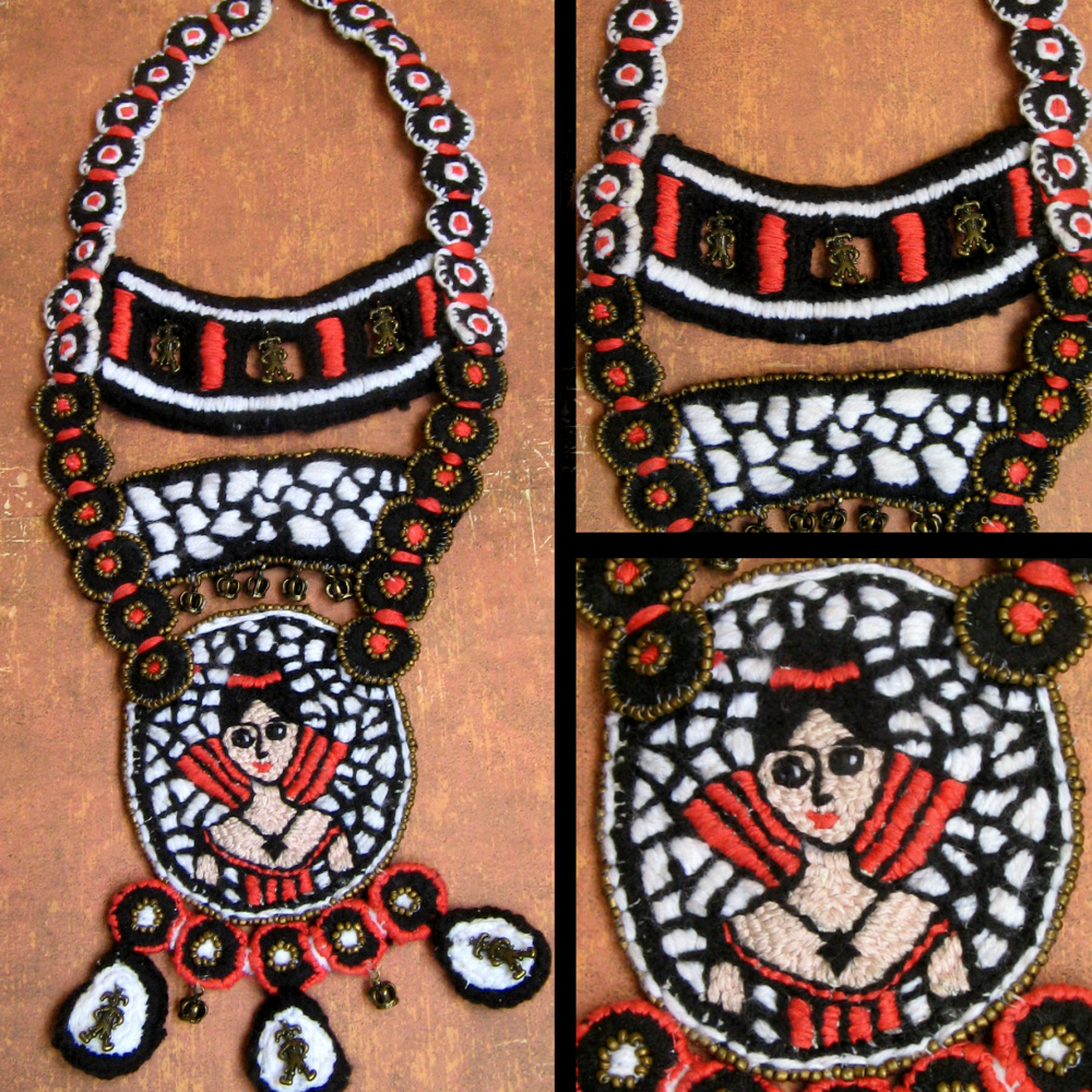 "Tatyana Turanova. Art necklace ""Queen Margot and her fools"""