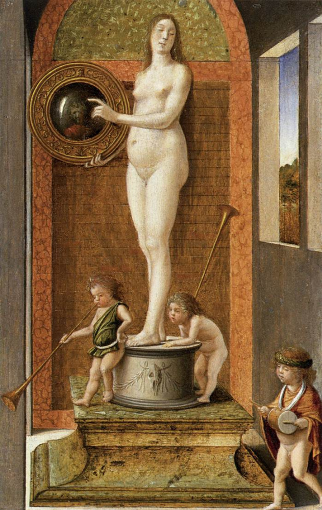Giovanni Bellini. Four allegories of Virtue: Prudence