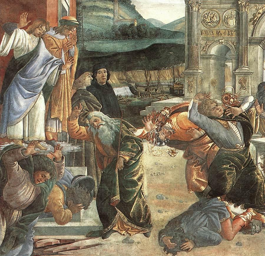 Сандро Боттичелли. Наказание (фрагмент)
