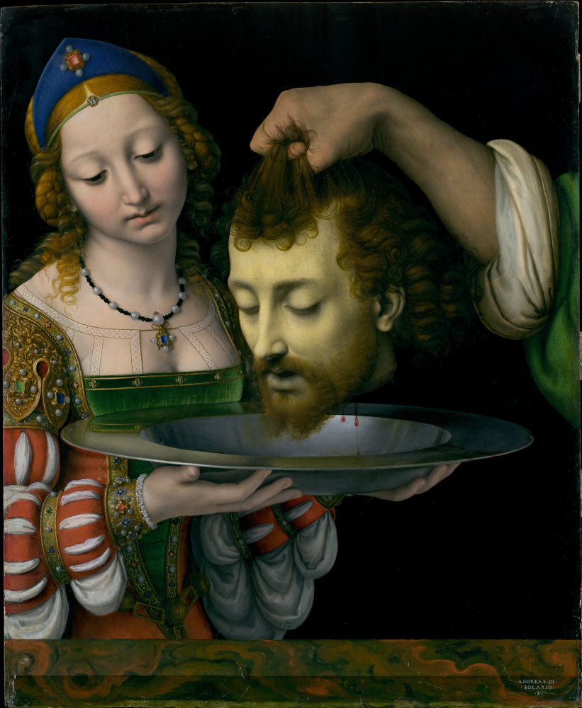 Andrea Solario. Salome with the Head of Saint John the Baptist