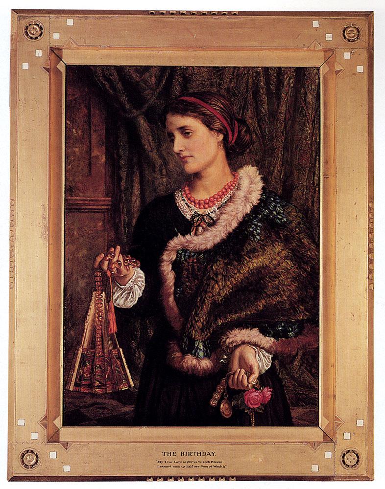 Уильям Холман Хант. День рождения (в оформлении). Портрет Эдит, второй жены художника