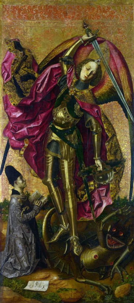 Бартоломе Бермехо. Святой Михаил побеждает дьявола