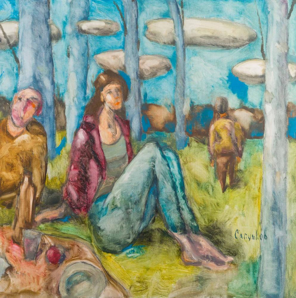 Igor Sapunkov. Breakfast on the grass
