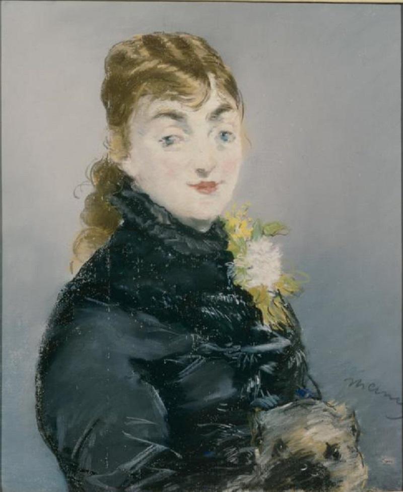 Edouard Manet. Portrait of Méry Laurent with a Pug