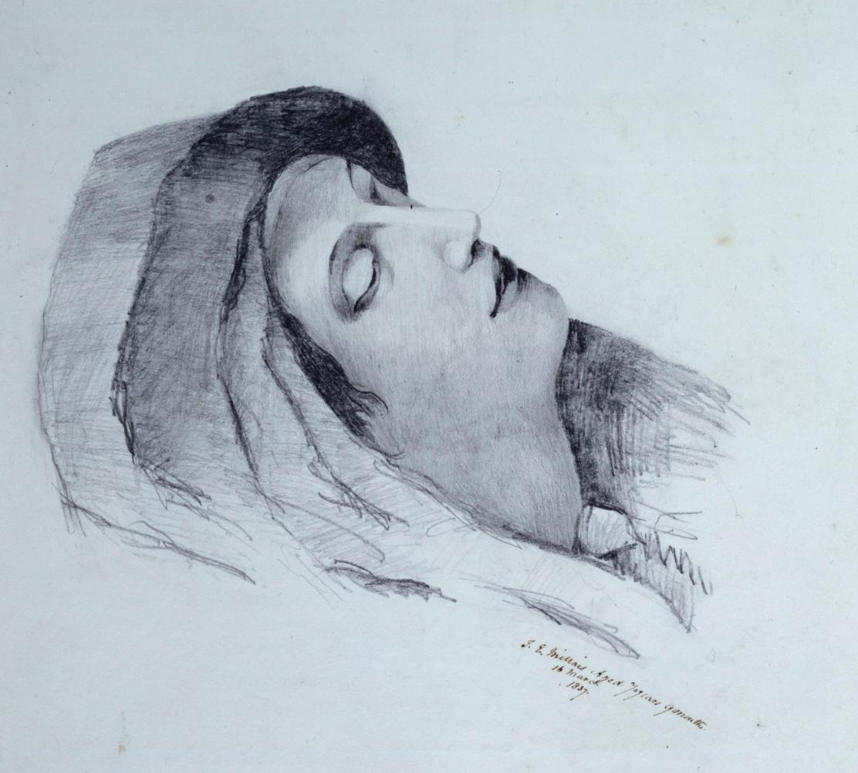 Джон Эверетт Милле. Эскиз женщины (изображение Девы Марии)