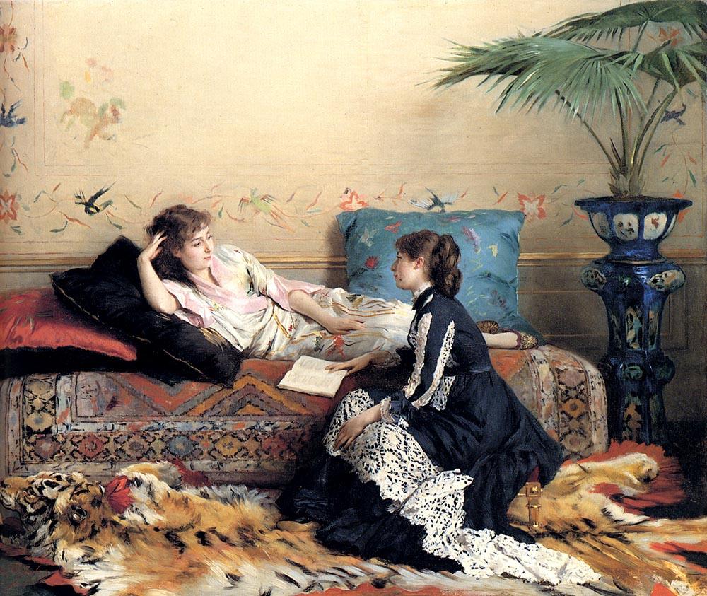 Леонард Густав де Джонгх. Общение двух девушек