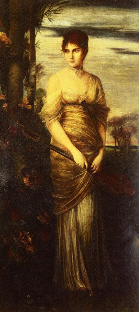 Портрет дамы с мандолиной