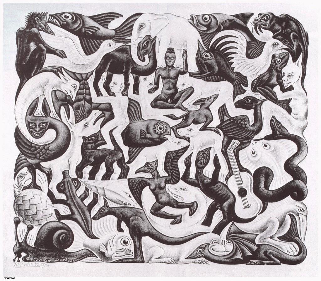 Мауриц Корнелис Эшер. Заполненная плоскость