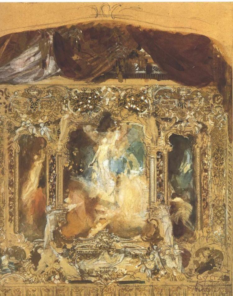 Gustav Klimt. Sketch of a theater curtain in Reichenberg (Liberec)