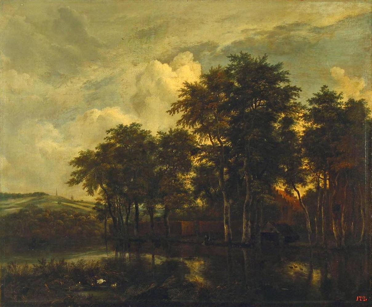 Jakob van Isaacs Ruisdael. Farm