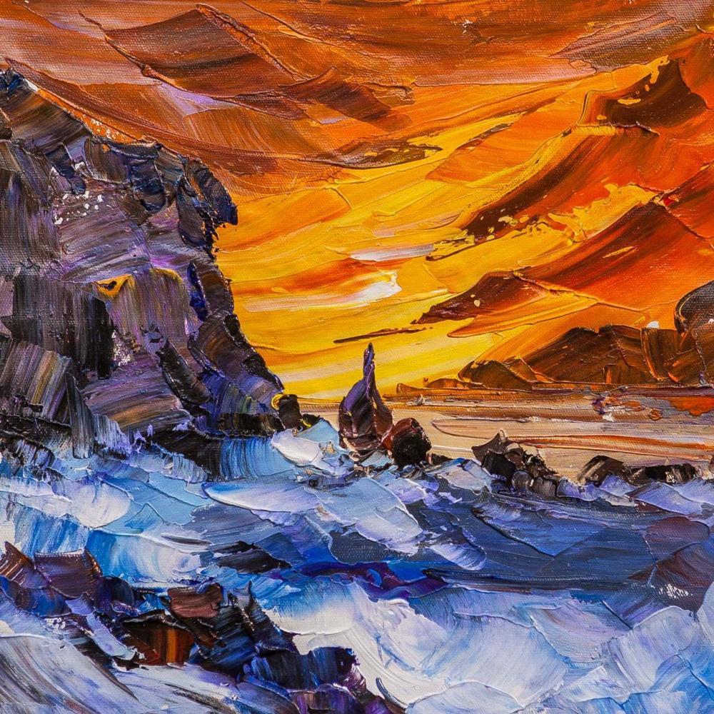Jose Rodriguez. Sunset on the coast N4