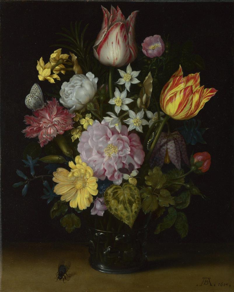 Амброзиус Босхарт Старший. Цветы в стеклянной вазе
