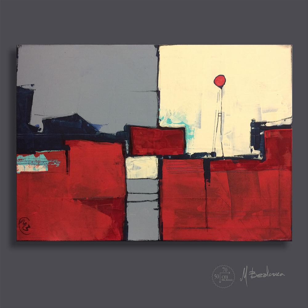 Mike Bezloska. Red landscape