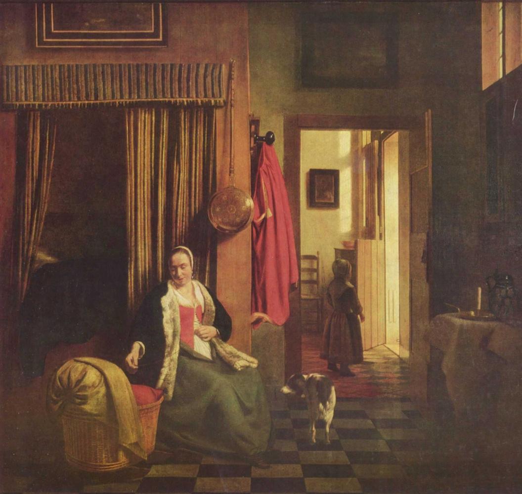 Питер де Хох. Мать у колыбели