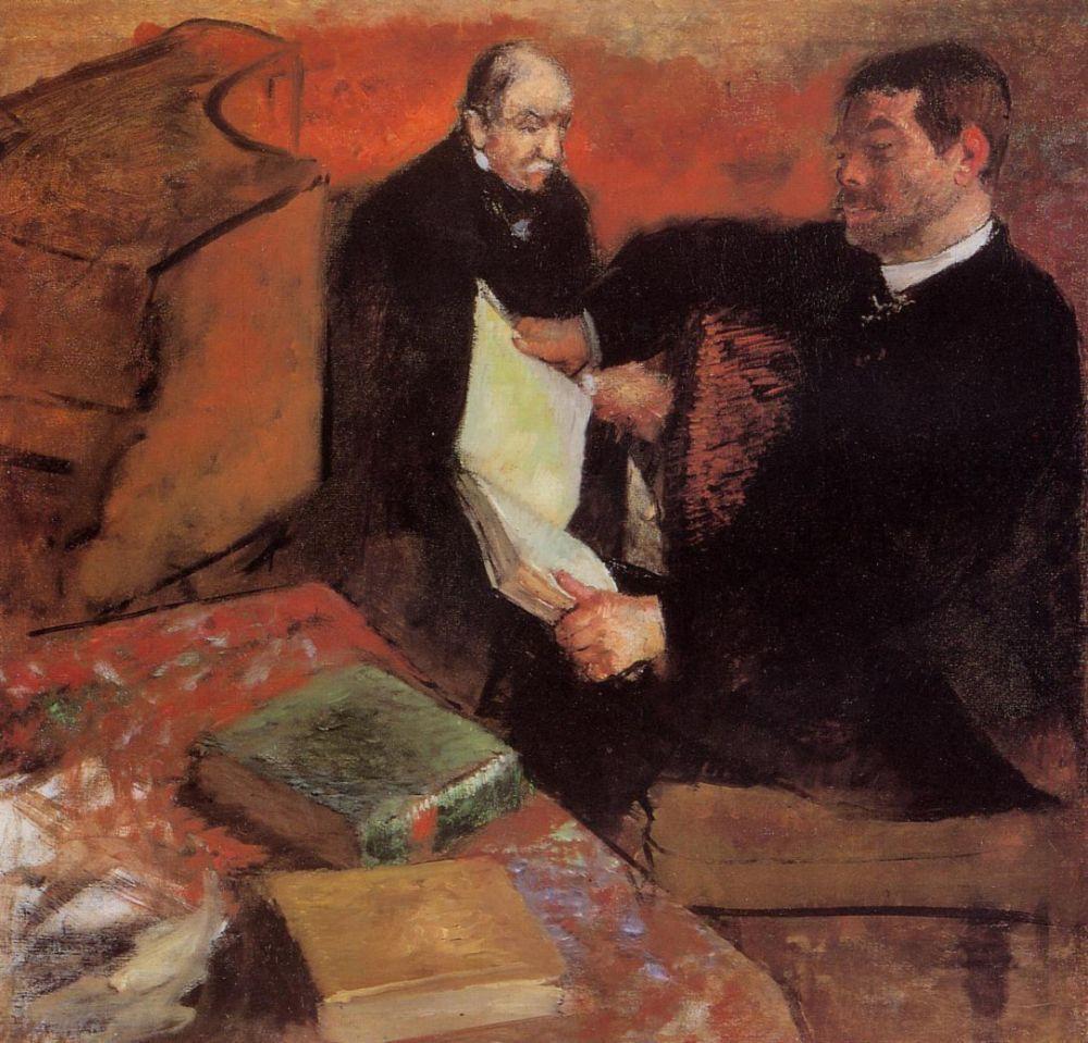 Эдгар Дега. Лоренцо Паган и Огюст де Га