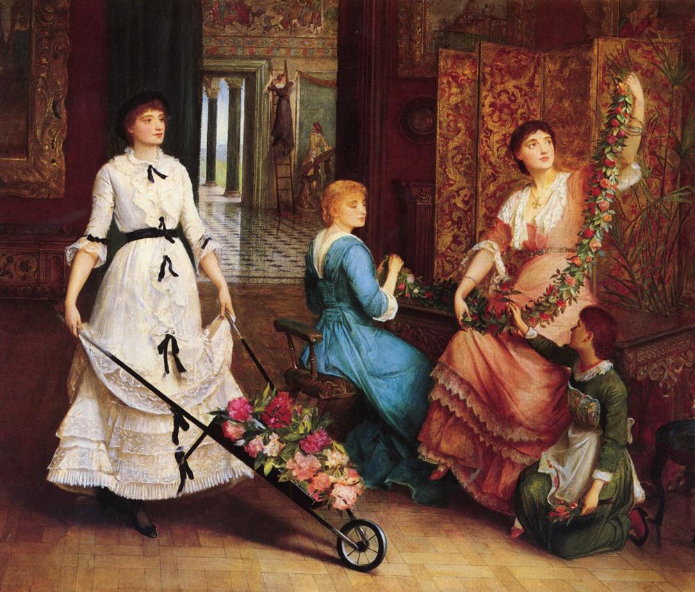 Эдвард Чарльз Галле. Девушки и цветы
