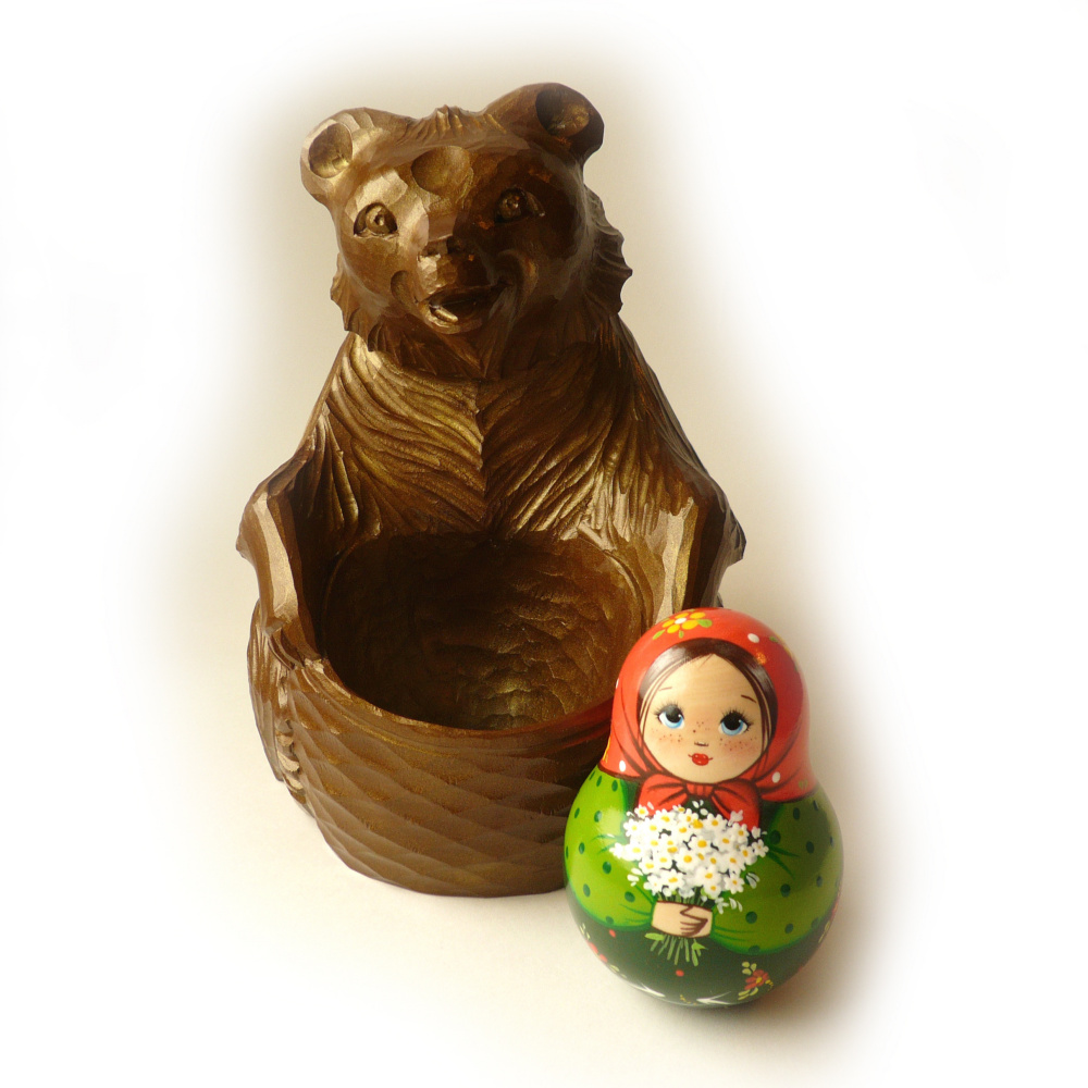 Tumbler Dasha (with a ringing) and the Bear