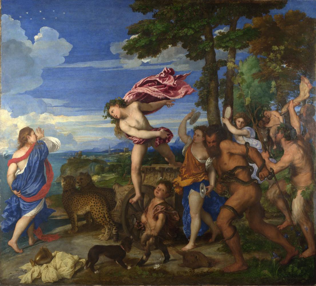 Titian Vecelli. Bacchus and Ariadne