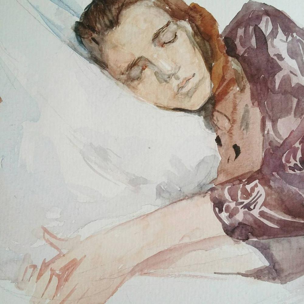 Валкрия Александровна Устюжанина. Watercolor portrait