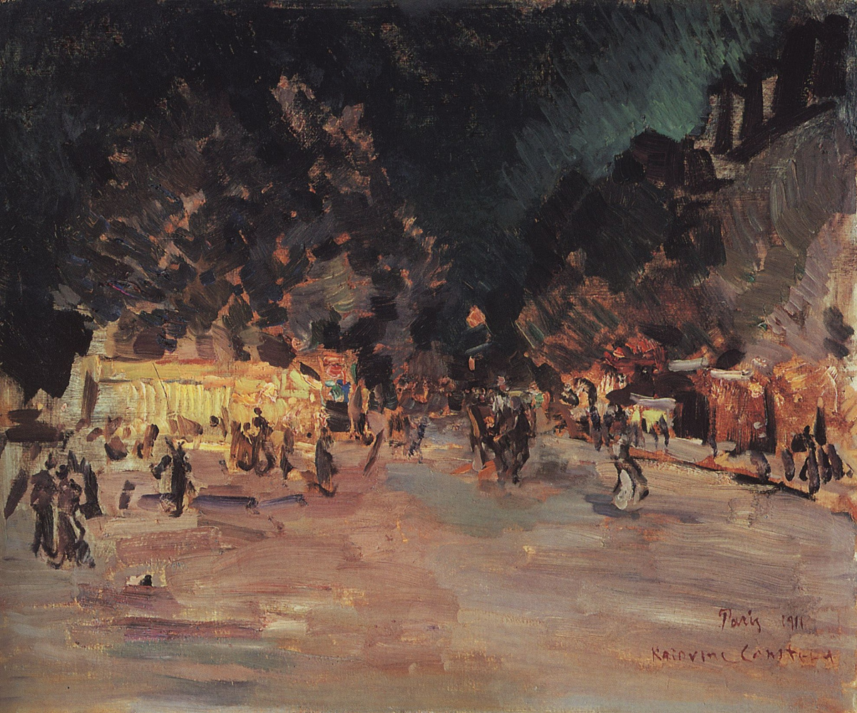 Константин Алексеевич Коровин. Париж ночью