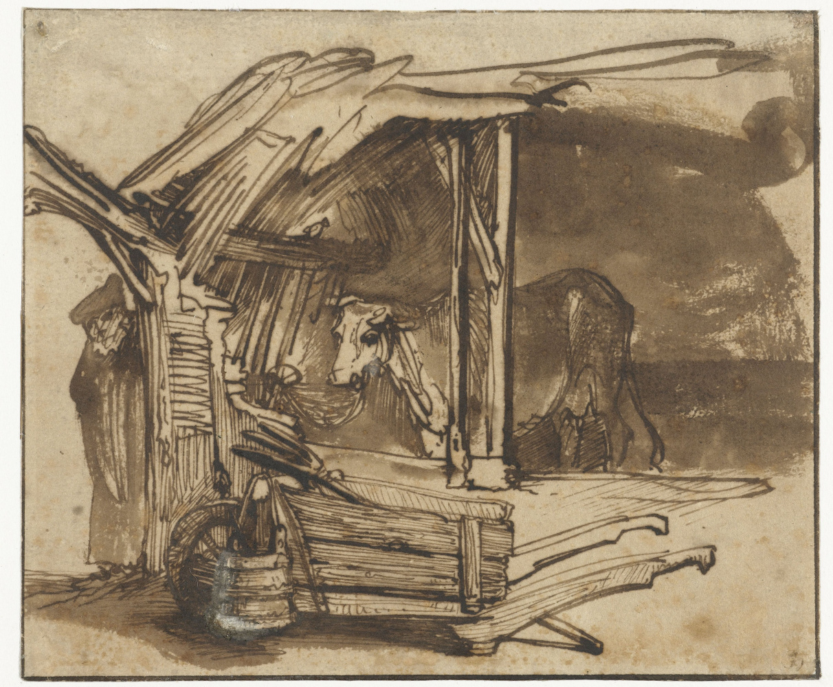 Rembrandt Harmenszoon van Rijn. A Cow in a Shed