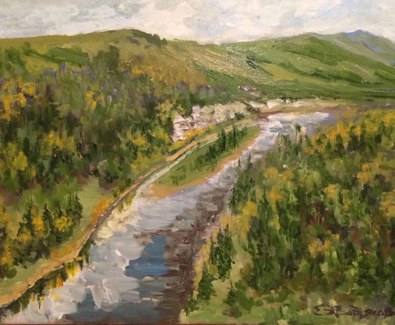 Edward Rudolfovich Votyakov. River in the mountains. Perm Territory.