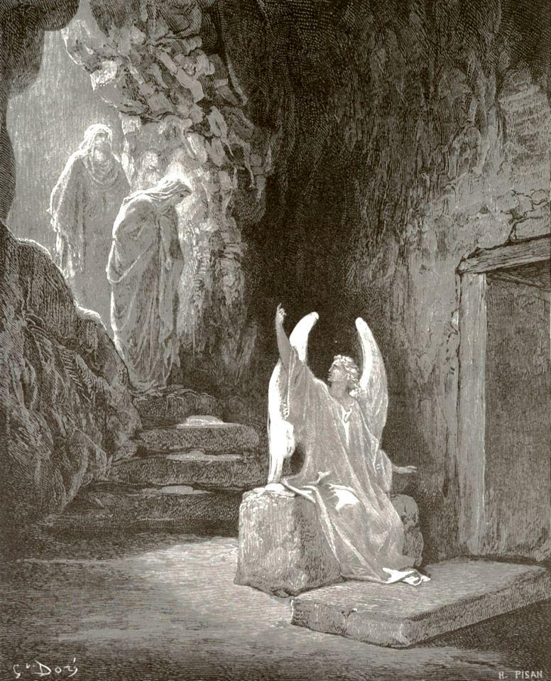 Поль Гюстав Доре. Ангел и жены-мироносицы