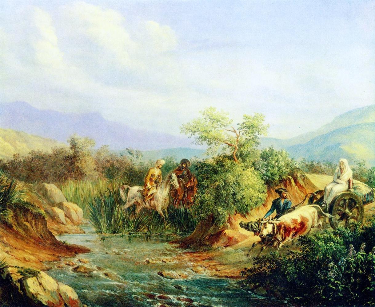 Mikhail Yurjevich Lermontov. A scene from the Caucasian life.