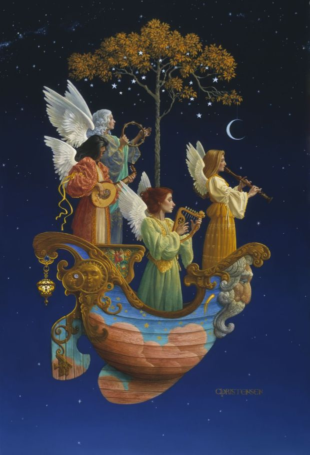James Christensen. Evening angels