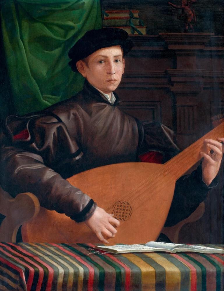 Франческо Сальвиати. Портрет молодого человека с лютней