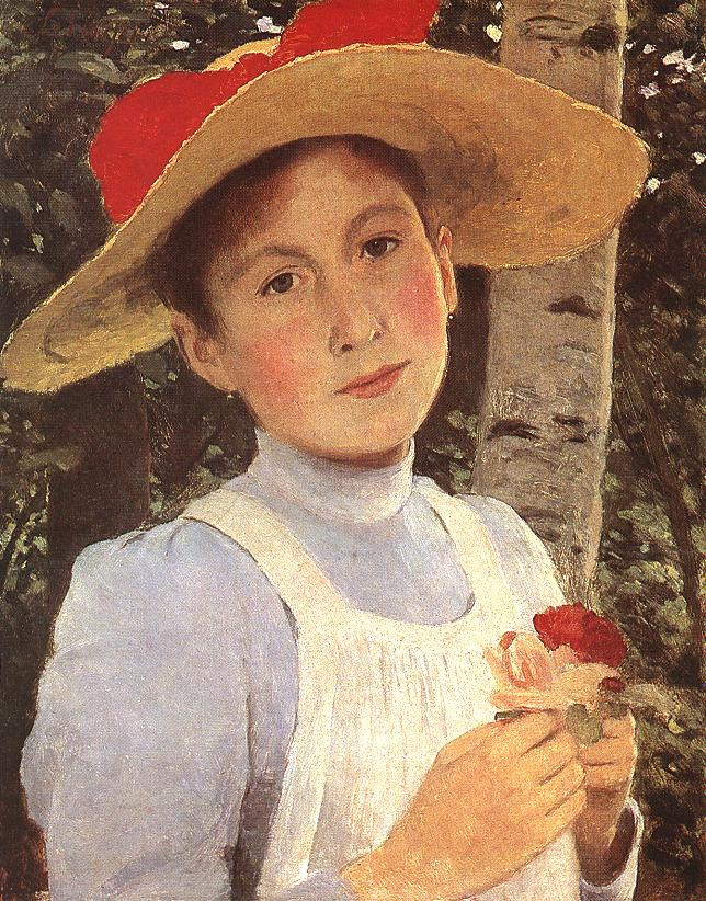 Pál Szinyei Merse. Portrait of Rosie, the daughter of the artist
