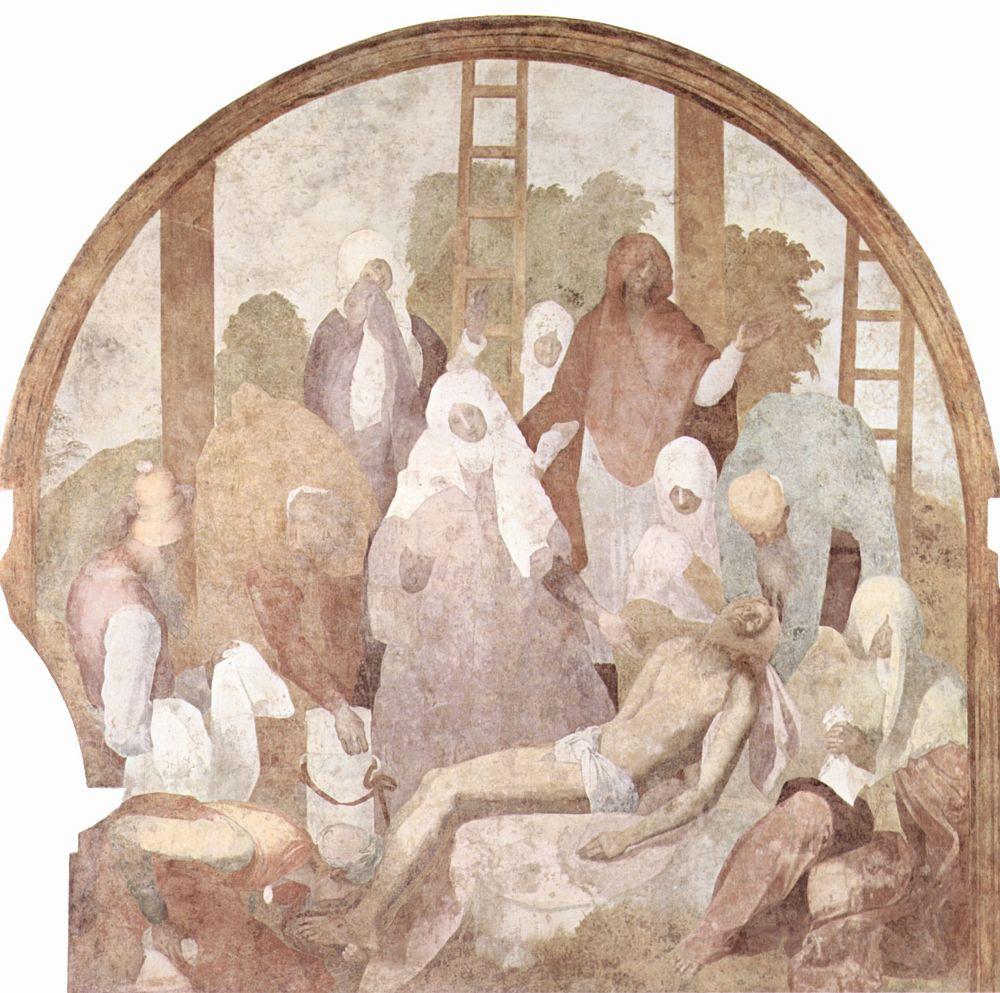 Якопо Понтормо. Страсти Христовы. Снятие с креста, фрагмент