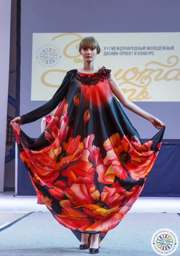 Roman Andreevich Zakharov. Dress from the Riot of Color collection