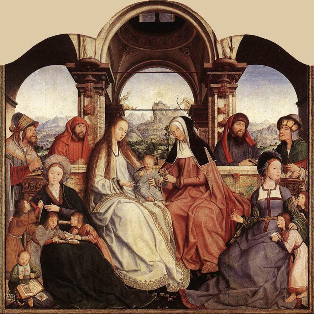 Квентин Массейс. Алтарь Святой Анны (центральная панель)