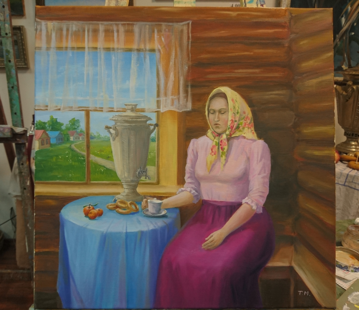Tatiana Mulyar. At the samovar