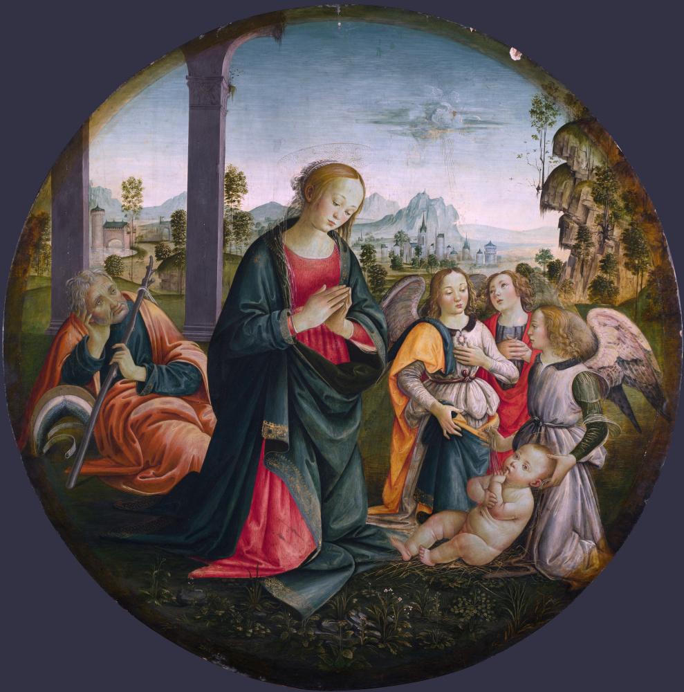 Флорентийский Итальянский. Святое семейство с ангелами
