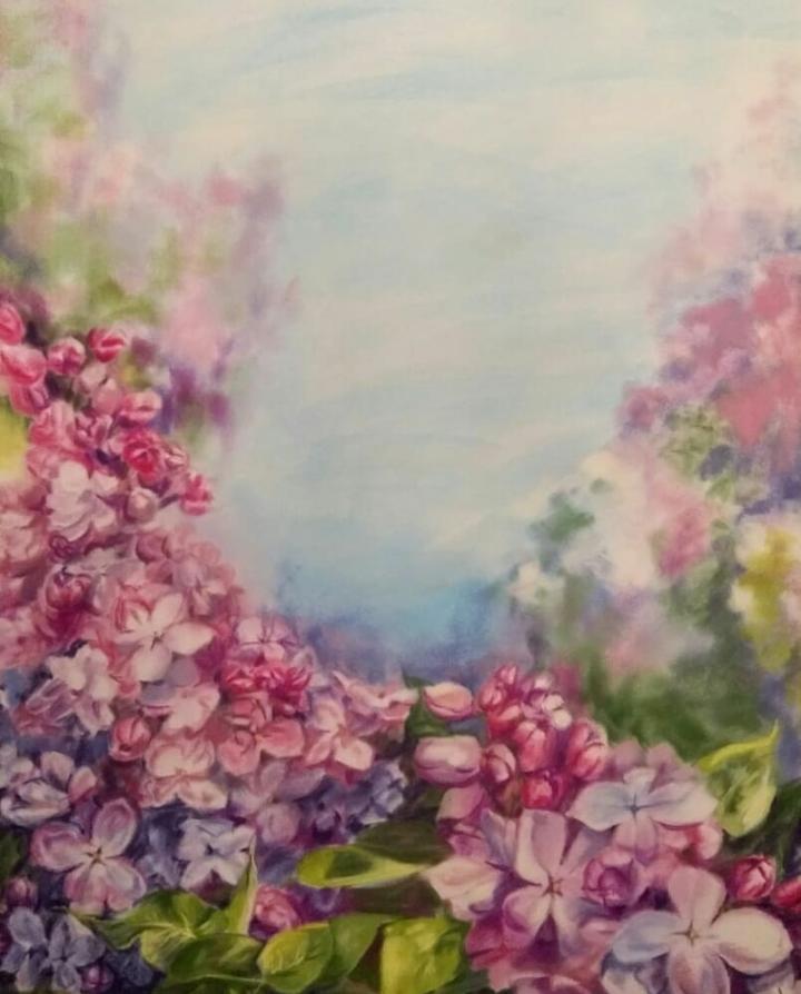 Hope Zudova. Lilac blossomed