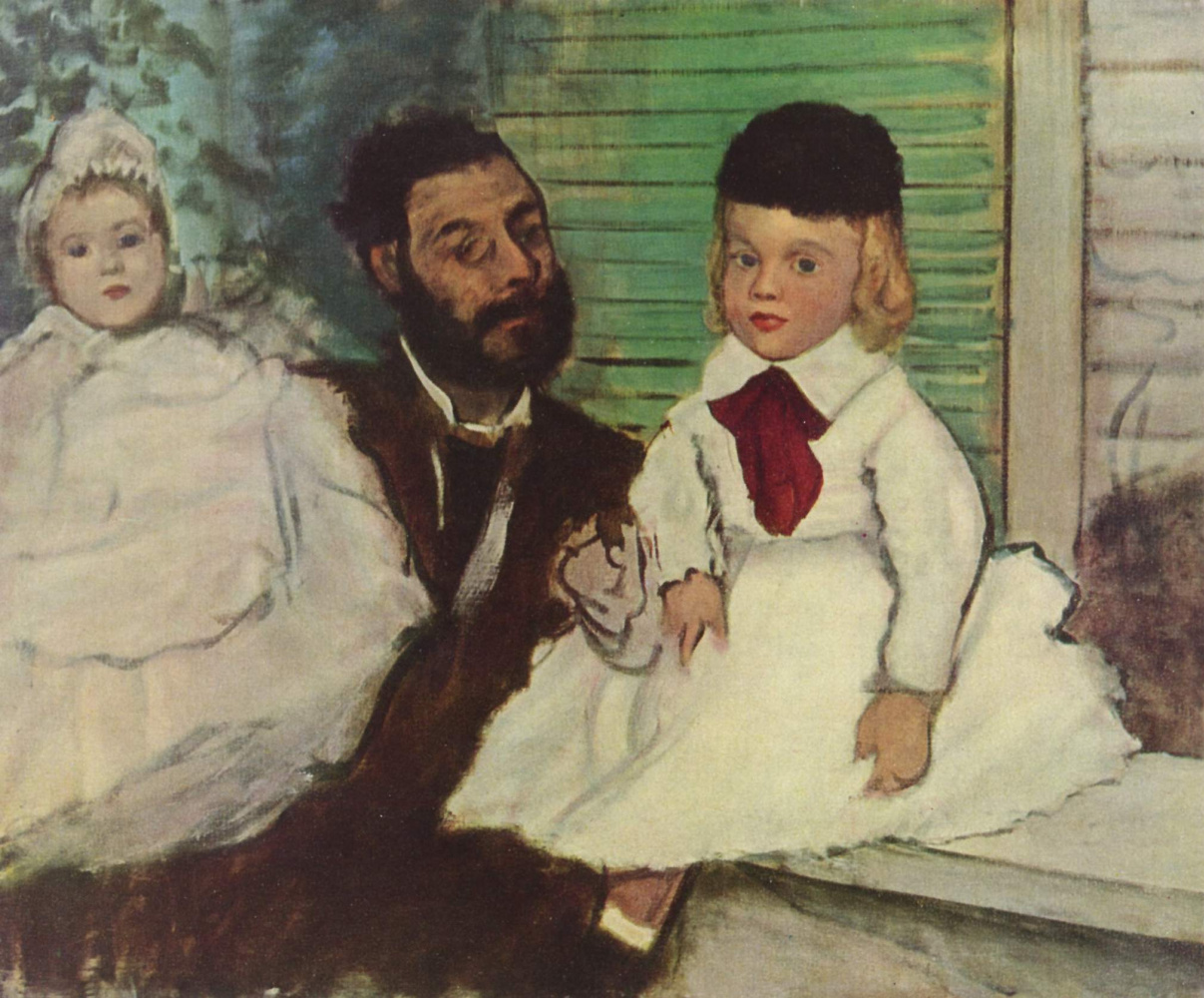 Edgar Degas. The Comte LePic with his daughters