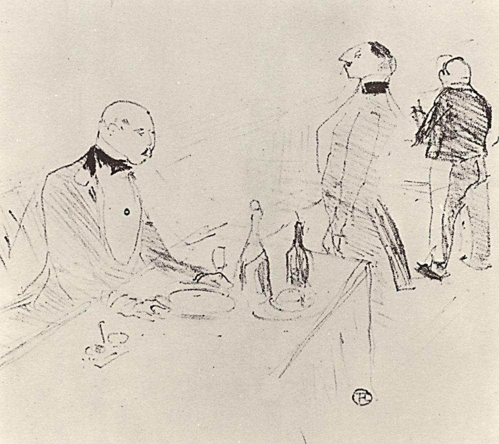 """Henri de Toulouse-Lautrec. In the """"Golden house"""""""
